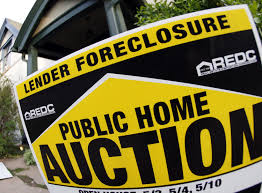 Bankruptcy & foreclosure home sign